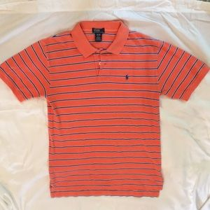 Orange Blue Striped Polo by Ralph Lauren